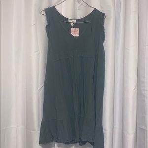 Magnolia Boutique Sage Green Linen Dress